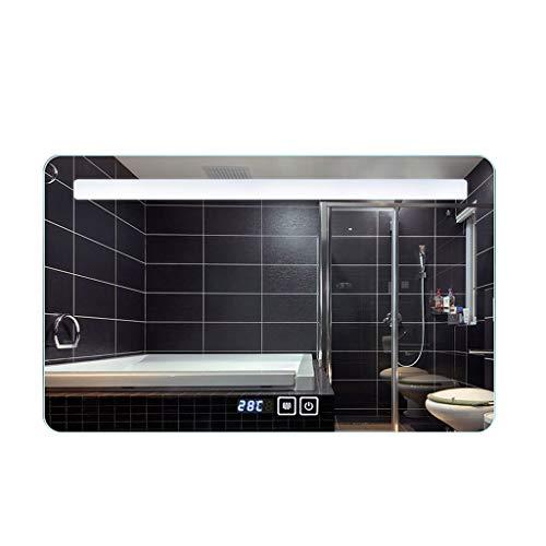 ZI LING Shop- Afgeronde hoek-intelligenter aan de muur bevestigde badkamerspiegel, anti-mist licht zonder frame.