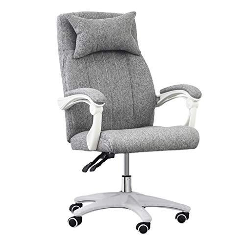 Kiki - Silla de oficina para ordenador y oficina, diseño ergonómico con respaldo medio y respaldo lumbar, cómodo asiento de carreras con reposapiés ergonómico