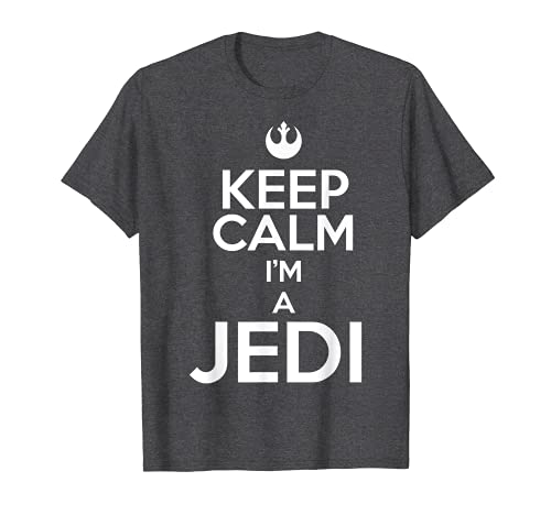 Star Wars Keep Calm I'm A Jedi Rebel Symbol Graphic T-Shirt
