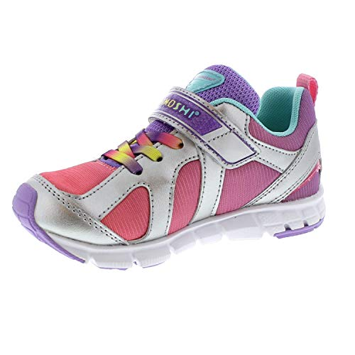 TSUKIHOSHI 3584 Child Rainbow Sneaker, Silver/Lavender - 11 Little Kid