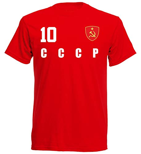 CCCP Sowjetunion WM 2018 T-Shirt Trikot Look - rot ALL-10 - S M L XL XXL (2XL)