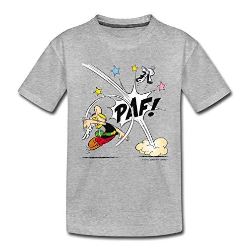 Spreadshirt Asterix & Obelix Faustschlag Von Asterix Kinder Premium T-Shirt, 134-140, Grau meliert