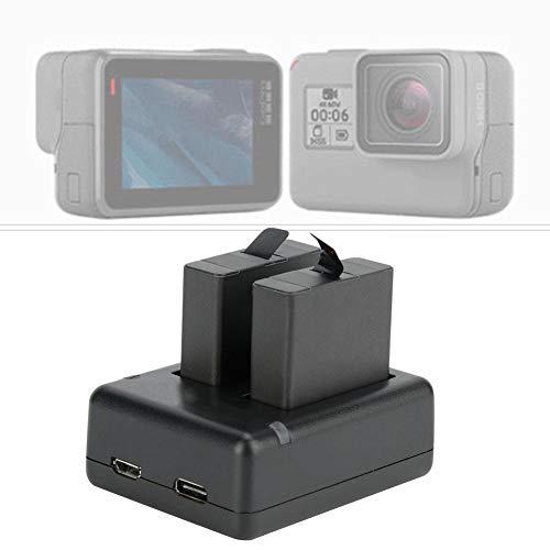 Vbestlife Action oplader voor camera, oplaadbare 1220 mAh batterijen met USB-oplader voor Hero 7Black/6/5.