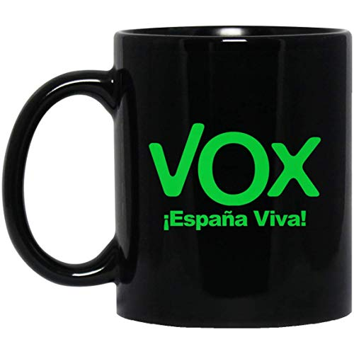 VOX Espana Viva Playera Camiseta Democracia 11 oz. Black Mug