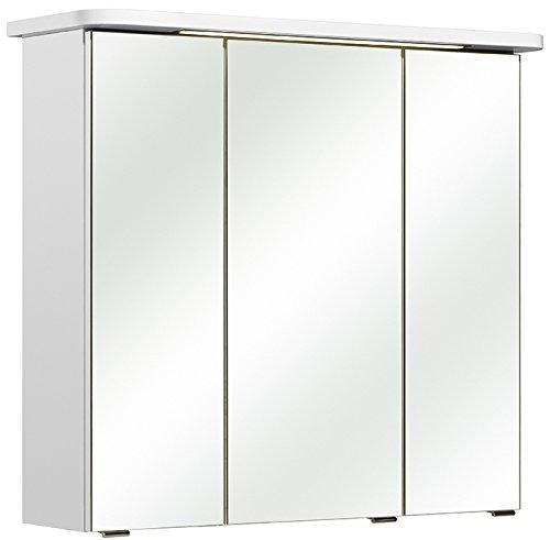 Pelipal 359 Piolo Spiegelschrank Agira I, Holzdekor, Weiß Hochglanz, 20,0 x 75,0 x 72,0 cm