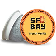 SF Bay Coffee French Vanilla 80 Ct Flavored Medium Roast Compostable Coffee Pods, K Cup Compatible including Keurig 2.0