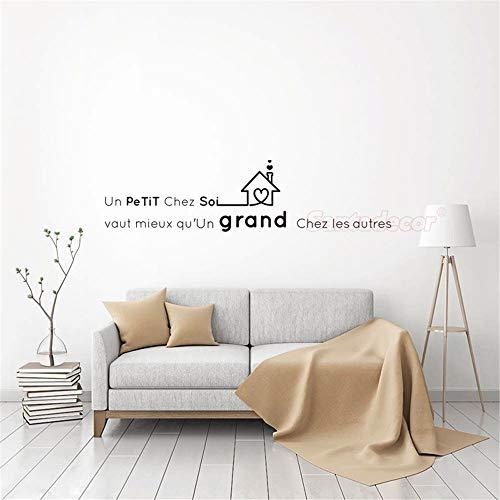 Quotes Vinyl Wall Decals Stickers Un Petit Chez Soi Vaut Mieux Living Room