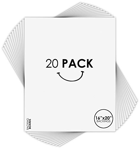 Golden State Art, Pack of 20 16x20 Backing Board