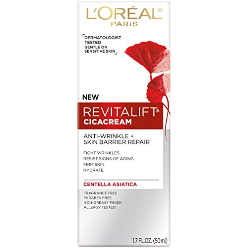 41DIv2XRY8L - L'Oreal Paris Revitalift Cicacream Anti-Aging Face Moisturizer with Centella Asiatica for Anti-Wrinkle and Skin Barrier Repair, Fragrance Free, Paraben Free, 1.7 fl. oz.