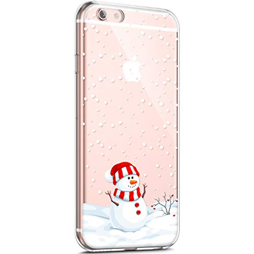 Surakey - Carcasa para iPhone 6 Plus/6S Plus, diseño de Navidad navideño, transparente, suave, de silicona TPU, ultrafina