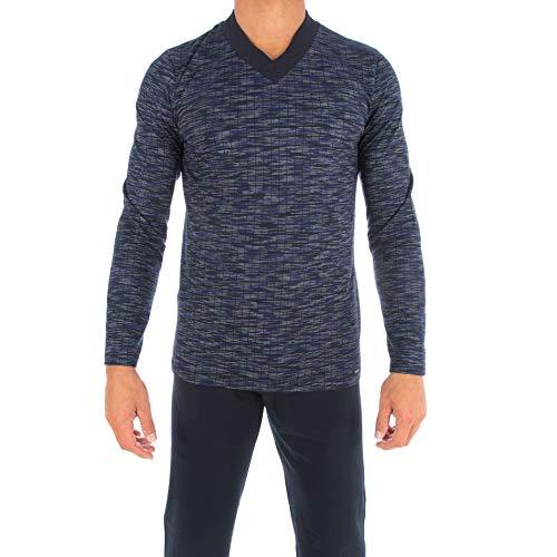 Impetus Schlafanzug aus Premium-Baumwolle, Blau XL