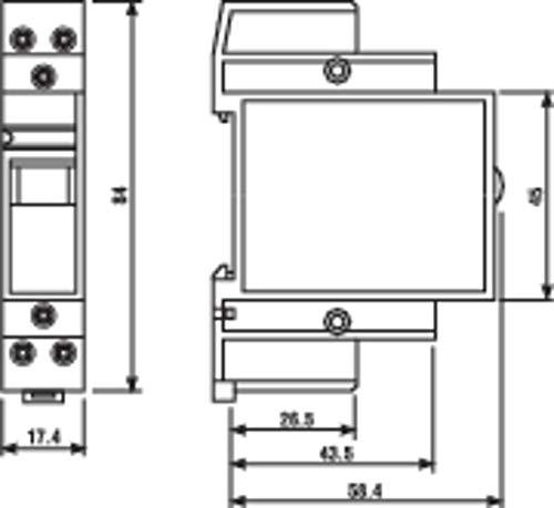 Preisvergleich Produktbild Finder 222382304000PAS Installationsschütze,  230 VAC,  1 Schließer,  1 Öffner,  20 A,  Kontaktmaterial: AgSnO2