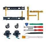Mcbazel 18 en 1 Kit de Reparación de Repuesto para NS Switch Joy-Con con kit de Destornilladores,...