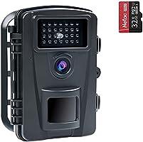 COOLIFE 16MP 1080P HD Wildkamera Fotofalle IP66 Wasserdicht Jagdkamera 940nm IR LEDs Nachtsicht Bewegungsmelder 0,2s...