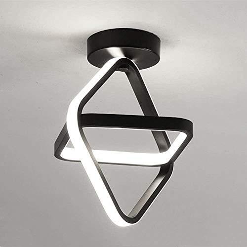 Goeco Plafoniera LED, Lampada da Soffitto 22W, Lampadario LED decorativa per Balcone Guardaroba Corridoio, Luce bianca calda 3000K