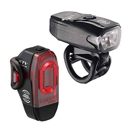 LEZYNE KTV Pro Smart Bike Light Set | LED Programmable Lights, 20h Runtime, USB Rechargeable, 200 Lumens, Mountain & Road Bike Lights, Headlight & Taillight Pair
