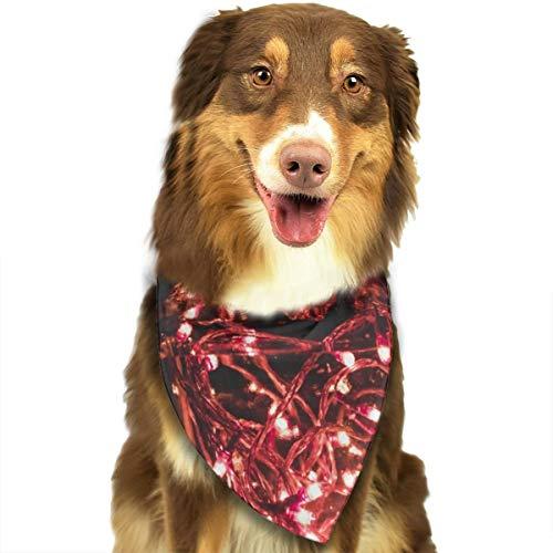 N/B Bbgsw Hunde-Kopftuch, rote Lichterkette auf transparentem Mason Har, bunte Schals, Dreiecks-Lätzchen, Zubehör für Haustiere