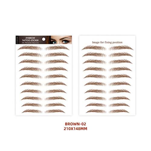 KiMiLIKE 6D Haar-Like authentische Augenbraue Wasserdicht Imitation ökologischer Faule Natürliche Tätowierung Augenbrauen-Aufkleber Wasserdichtes langlebiges Braue für Frauen