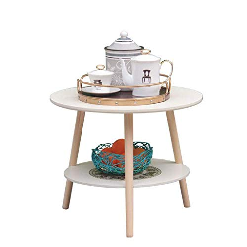 Coffee Table Side Tables Nordic Small Round Coffee Table Creative Bedroom Bedside Table Living Room Sofa Side Table (Size : 50cm)