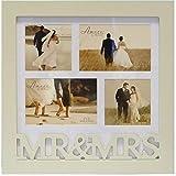 Mr & Mrs Wooden Collage Wedding Photo Frame, gift by Widdop Bingham