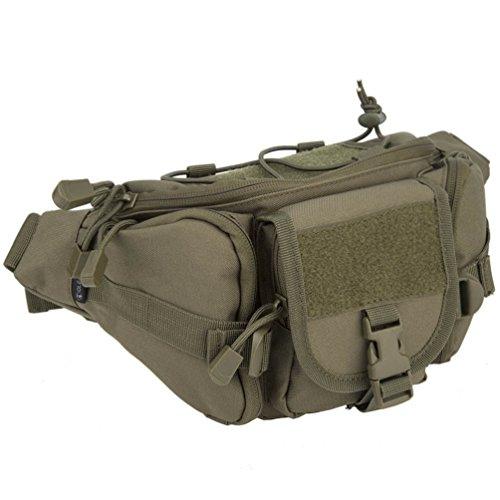 OLEADER Taktische Taille Pack Military Fanny Packs Hüftgürtel Tasche Beutel Werkzeug Organizer für Outdoor Wandern Klettern Angeln Jagd Bum Bag (Grün)