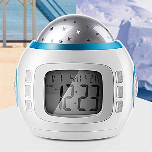 WCJ Smart wekker projector lamp bed multifunctioneel wekker sfeerlamp kinderen vakantie cadeau lampen