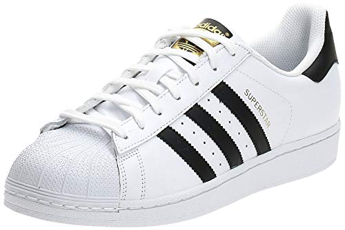 adidas Herren Superstar C77124 Sneaker, White Footwear White Core Black Footwear White, 45 1/3 EU