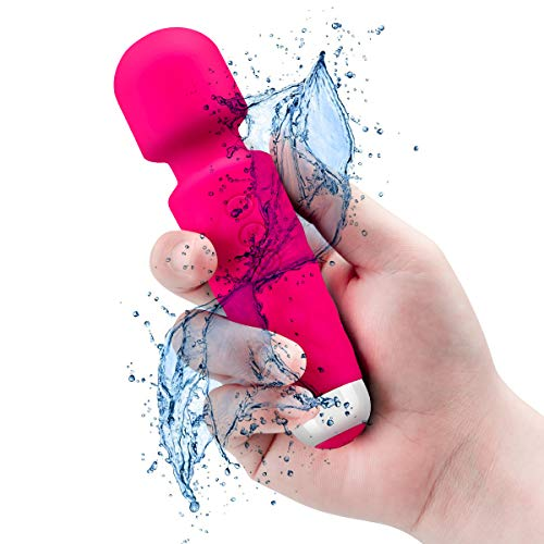 Upgraded Rechargeable Personal Mini Wand Massager, Waterproof Handheld Bullet Cordless Wand Massager for Neck Shoulder Back Body Massage Sports Recovery Muscle Aches,[6 * 1.5 INCH],Pink