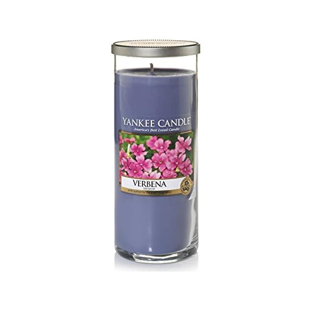 親槍レモンYankee Candles Large Pillar Candle - Verbena (Pack of 6) - ヤンキーキャンドル大きな柱キャンドル - バーベナ (x6) [並行輸入品]
