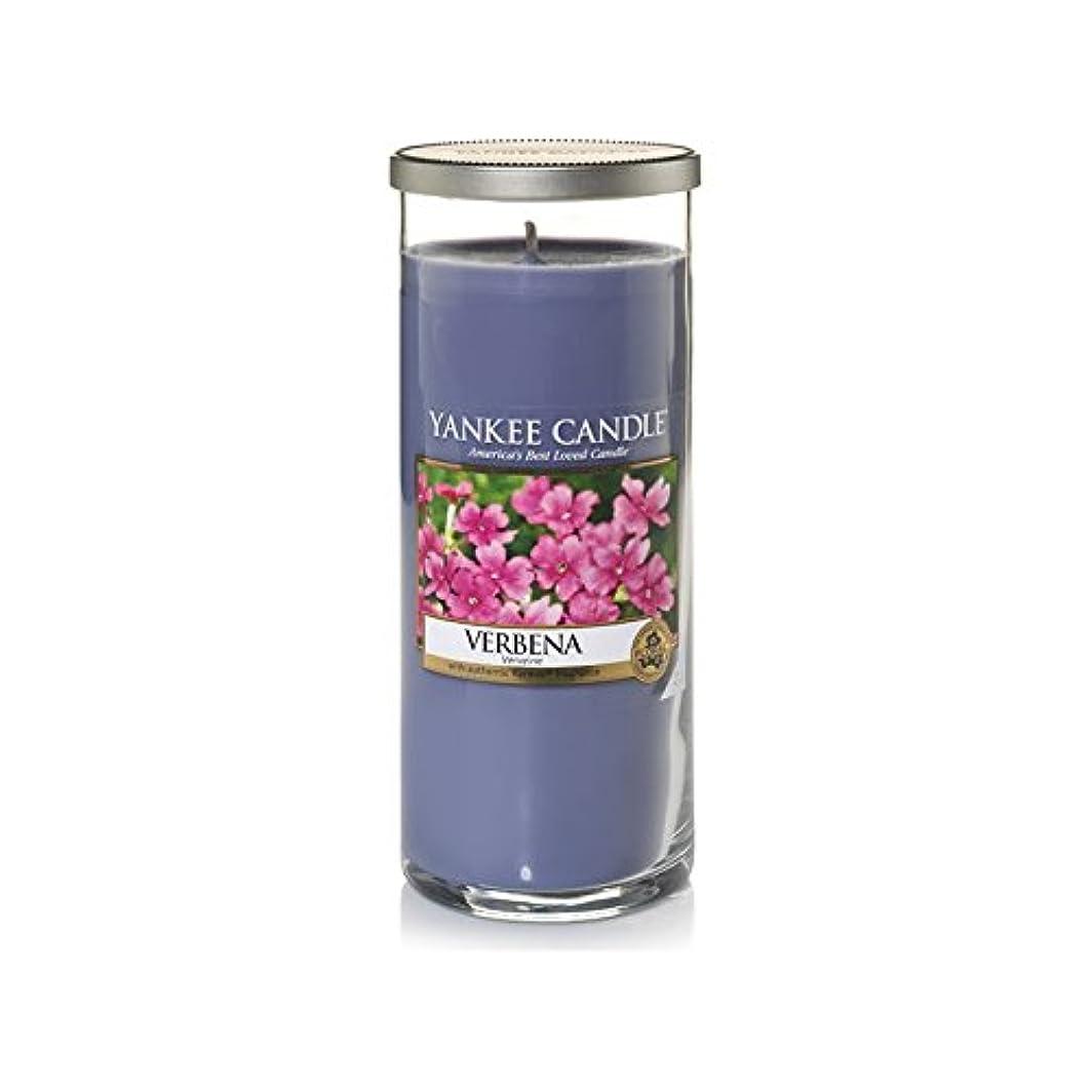 素朴な順応性囲まれたYankee Candles Large Pillar Candle - Verbena (Pack of 6) - ヤンキーキャンドル大きな柱キャンドル - バーベナ (x6) [並行輸入品]
