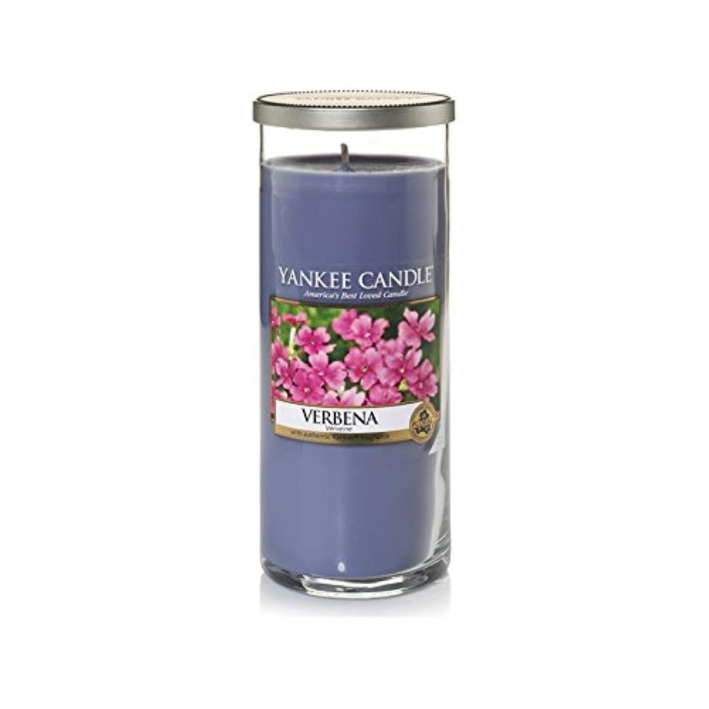 実験ポーズ葉を集めるYankee Candles Large Pillar Candle - Verbena (Pack of 2) - ヤンキーキャンドル大きな柱キャンドル - バーベナ (x2) [並行輸入品]