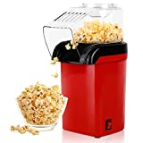 Hot Air Popcorn Maker Machine, RegeMoudal 1200W Home Popcorn Popper, Healthy Oil-Free for Parties & Kids Easy to Clean, 2-3 Minutes Fast (Red)