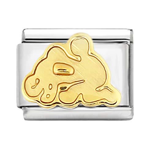 AKKi jewelry Italian Charms Armband Classic glieder Italy Charm,Silber Gold Edelstahl Links Kult modele Blume Tiere Herz für Wassermann