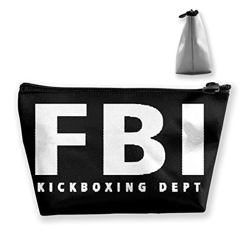 収納ポーチ 化粧バッグ FBI メイクポーチ 台形 収納袋 学生 鉛筆ケース 整理 小銭入れ 小物用ケース 携帯便利 多機能 バッグ 化粧品収納グッズ 防水 出張 旅行対応 手提げ