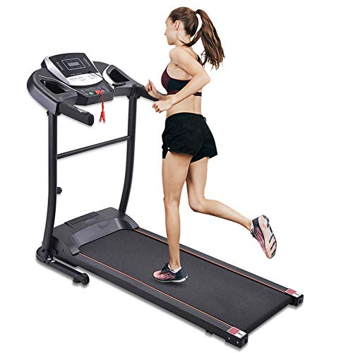Folding Electric Treadmill for Home Use Motorised Running Machine with LCD Console 15 HP Motor 12 Programmes Anti slip Belt USB Walking Machine Portable Gym Equipment for Fitness Workout UK STOCK