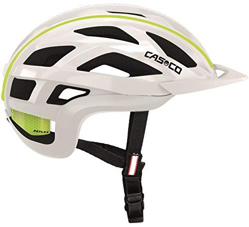 Casco Cuda 2 Fahrradhelm Herren, Damen (Weiß-Neongelb Glanz, M 54-58cm)