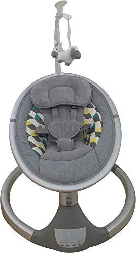 Born Lucky Dreamy Grau Elektrische Babyschaukel Babywiege Bluetooth USB Musik