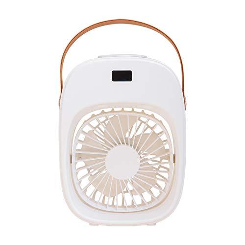 Saicowordist Luces LED enfriador de aire portátil USB Ventilador de escritorio evaporativo humidificador spray ventilador con tanque de agua de 200 ml para oficina, familia, viajes, camping (blanco)