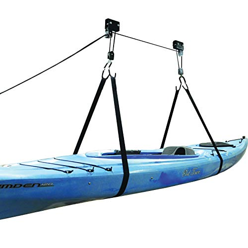 Legacy Watersports Kayak Ceiling Hoist Lift Pulley System Garage Storage Rack SUP Bike Canoe