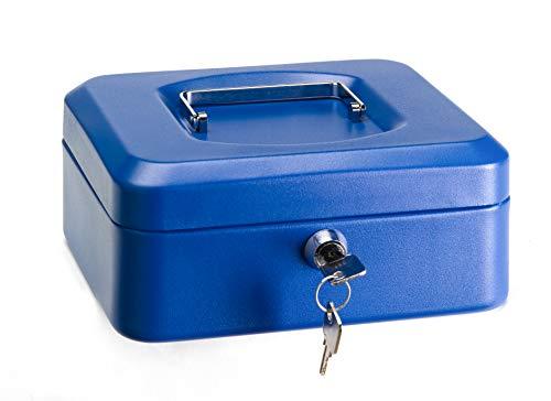 Arregui C9225 Caja de Caudales de Acero, 20 cm de Ancho, con Bandeja multifunción, Azul, 200 x 90 x 160 mm