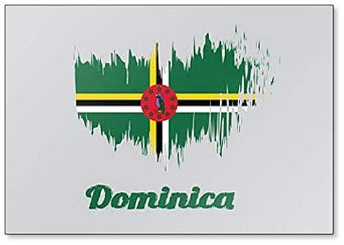 Kühlschrankmagnet, Motiv: Flagge von Dominica, Pinsel-Illustration
