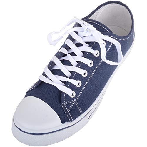 Zapatillas deportivas para hombre de lona con cordones y puntera de goma