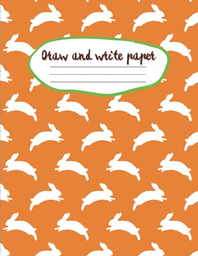 Draw and write paper for kids blank dotted lined notebooks: Primary story journal grades k-2. Early Creative Story Book for Kids. Draw and write ... Large 8.5'' x 11'' size, 114 White Pages.
