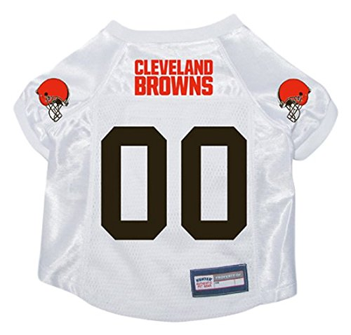 HUNTER NFL Cleveland Browns Pet Jersey, Large, White