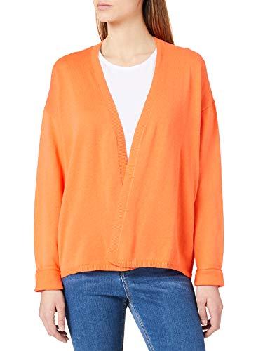Cecil Damen 253205 Strickjacke, Papaya orange, M