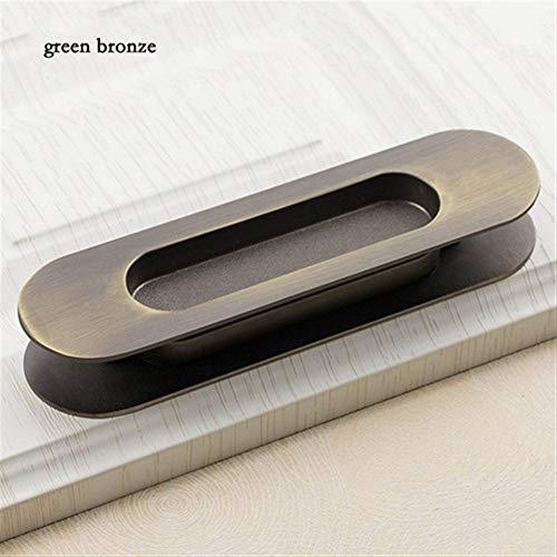 2PCS Hidden zinklegering Inbouw Pull Sliding deurklinken Slaapkamer kabinet handvat meubelbeslag (Color : Bronze)