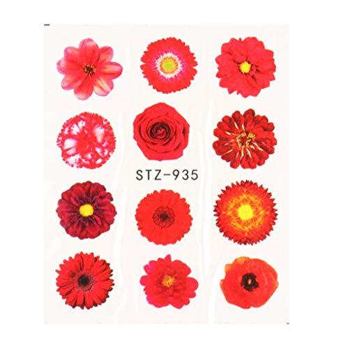 JSIYU Stickers Ongle Série de Fleurs Nail Water Decal Sticker Floral Sakura Daisy Rose Leaf Transfer Slider Foil Nail Decoration C-Y03