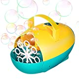 MITCIEN Bubble Machine for Kids 4500+ Bubbles/min Automatic Bubble Maker Bubble Blowers 2 Speeds, Plug in or Battery Powered, for Birthday Wedding Parties Stage,Outdoor Toys for Toddlers