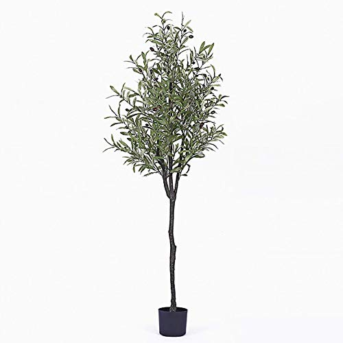 AXAA Künstliche Bäume, Olivenbaum Simulation im nordischen Stil Topfpflanzen, Wohnzimmer Innenbalkon Grüne Pflanze Home Decoration, 1,8 m