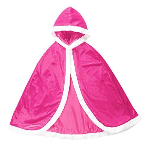 Lito Angels Disfraz de princesa con capucha para niñas de 8 a 10 años, color rosa